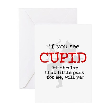 Bitch-Slap Cupid Greeting Card