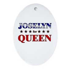 JOSELYN for queen Oval Ornament