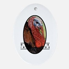 Turkey Tracks Oval Ornament