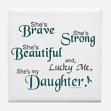 Lucky Me 1 (Daughter OC) Tile Coaster