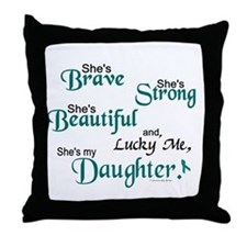 Lucky Me 1 (Daughter OC) Throw Pillow
