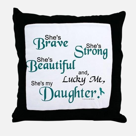 Lucky Me 1 (Daughter OC) Throw Pillow