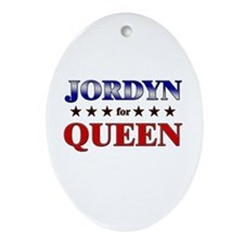 JORDYN for queen Oval Ornament