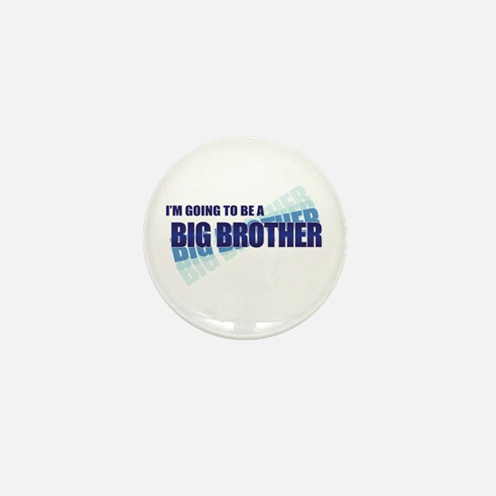 going to be a big brother blue Mini Button