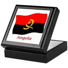 Angola Flag Keepsake Box