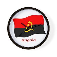 Angola Flag Wall Clock