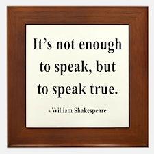 Shakespeare 22 Framed Tile