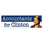 Accountants for Clinton bumper sticker