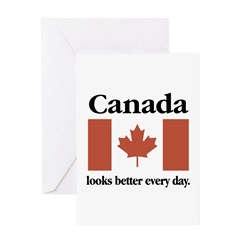 Canada Looks Better Every Day Greeting Card