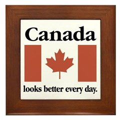 Canada Looks Better Every Day Framed Tile