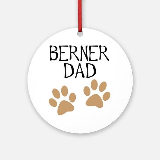 Big Paws Berner Dad Ornament (Round)