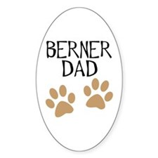 Big Paws Berner Dad Oval Decal