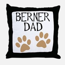 Big Paws Berner Dad Throw Pillow