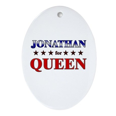 JONATHAN for queen Oval Ornament