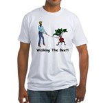Walking The Beet! Fitted T-Shirt
