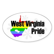 West Virginia Rainbow Pride Oval Decal