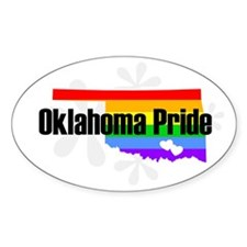 Oklahoma Rainbow Pride Oval Decal