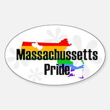 Massachussetts Rainbow Pride Oval Decal