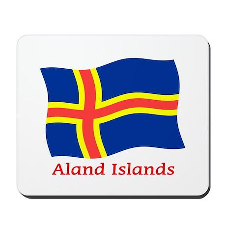 Aland Islands Flag Mousepad