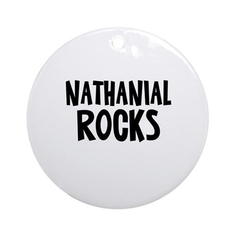 Nathanial Rocks Ornament (Round)