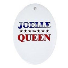 JOELLE for queen Oval Ornament