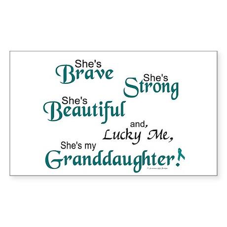 Lucky Me 1 (Granddaughter OC) Sticker (Rectangular