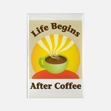 Life begins after coffee Rectangle Magnet