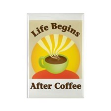 Life begins after coffee Rectangle Magnet (10 pack