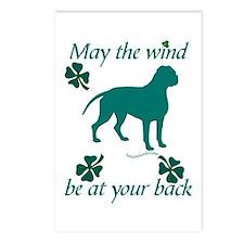 Dogue de Bordeaux and Shamrocks Postcards (Package
