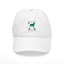 Dogue de Bordeaux and Shamrocks Baseball Cap