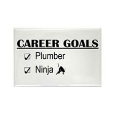 Plumber Career Goals Rectangle Magnet