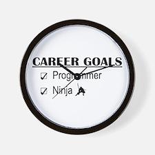 Programmer Career Goals Wall Clock