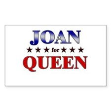 JOAN for queen Rectangle Decal