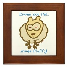 Ewes fluffy Framed Tile