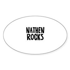 Nathen Rocks Oval Decal
