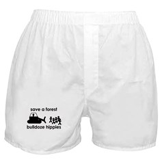 Save A Forest, Bulldoze Hippi Boxer Shorts