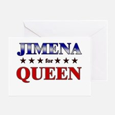 JIMENA for queen Greeting Card