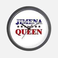 JIMENA for queen Wall Clock