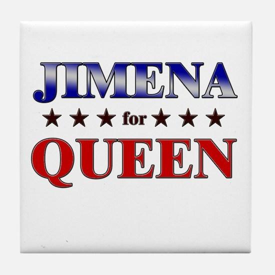 JIMENA for queen Tile Coaster