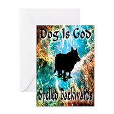 Dog Is God Greeting Card