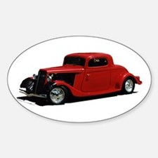 Helaine's Hot Rod 2 Oval Decal