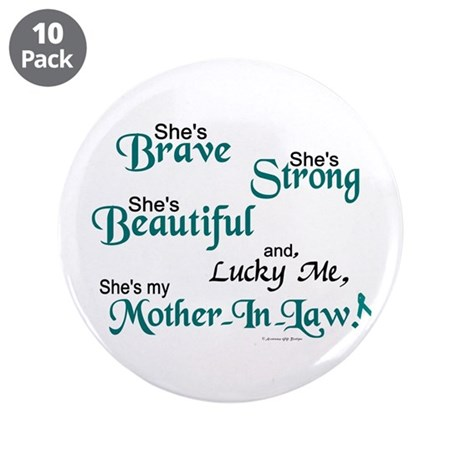 """Lucky Me 1 (Mother-In-Law OC) 3.5"""" Button (10 pack"""