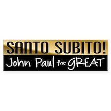 Santo Subito Bumper Sticker #2 by Covenant Gear
