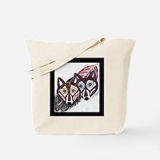 Wolves Pair Tote Bag