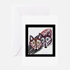 Wolves Pair Greeting Card
