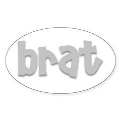 brat Oval Decal