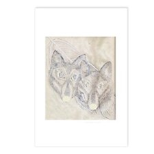 Wolves Shadow Postcards (Package of 8)