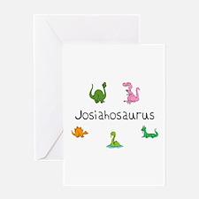 Josiahosaurus Greeting Card