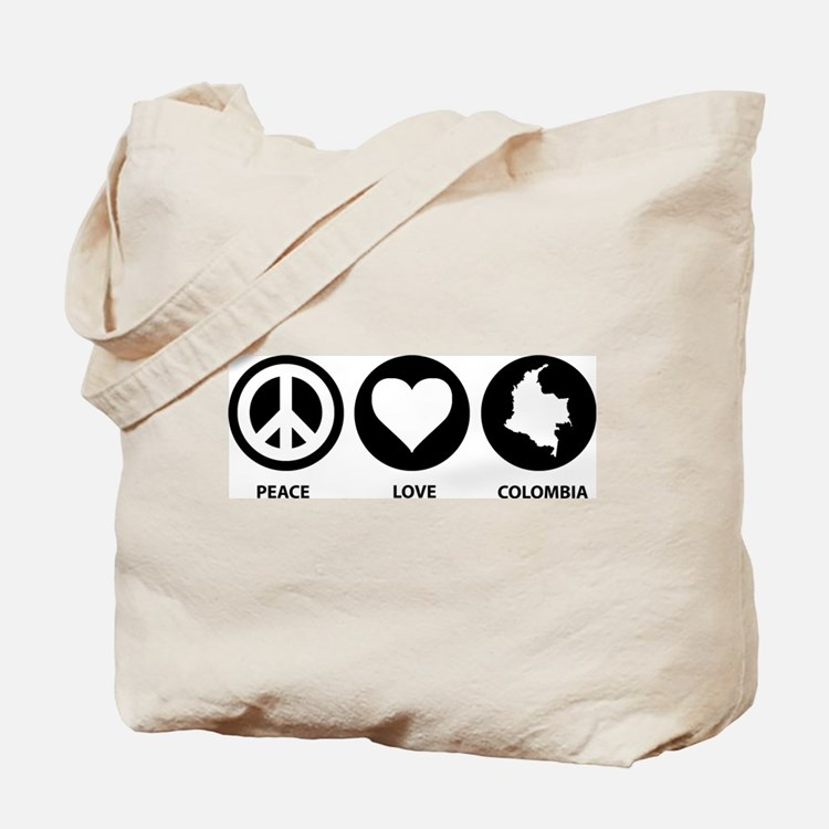 Peace Love Colombia Tote Bag