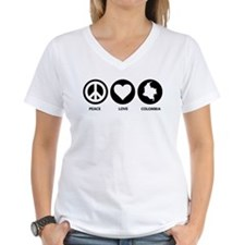 Peace Love Colombia Shirt